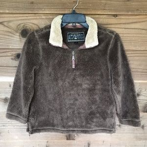 True Grit Youth Pebble Pile 1/4 Zip Pullover Small